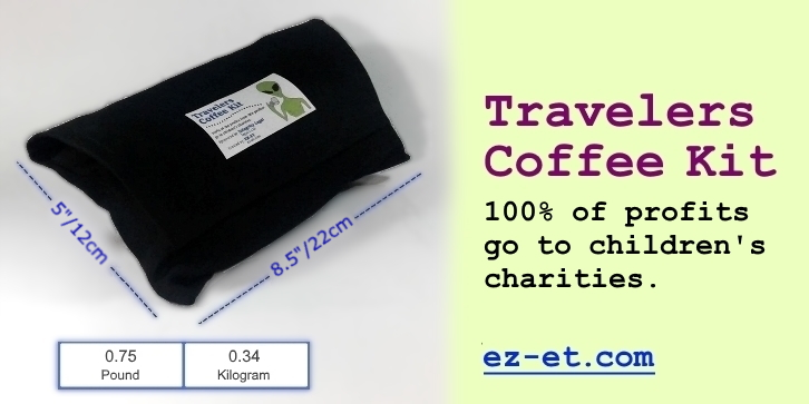 travelers coffee kit size weight